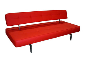 Premium Sofa Bed K18 in Red Leatherette