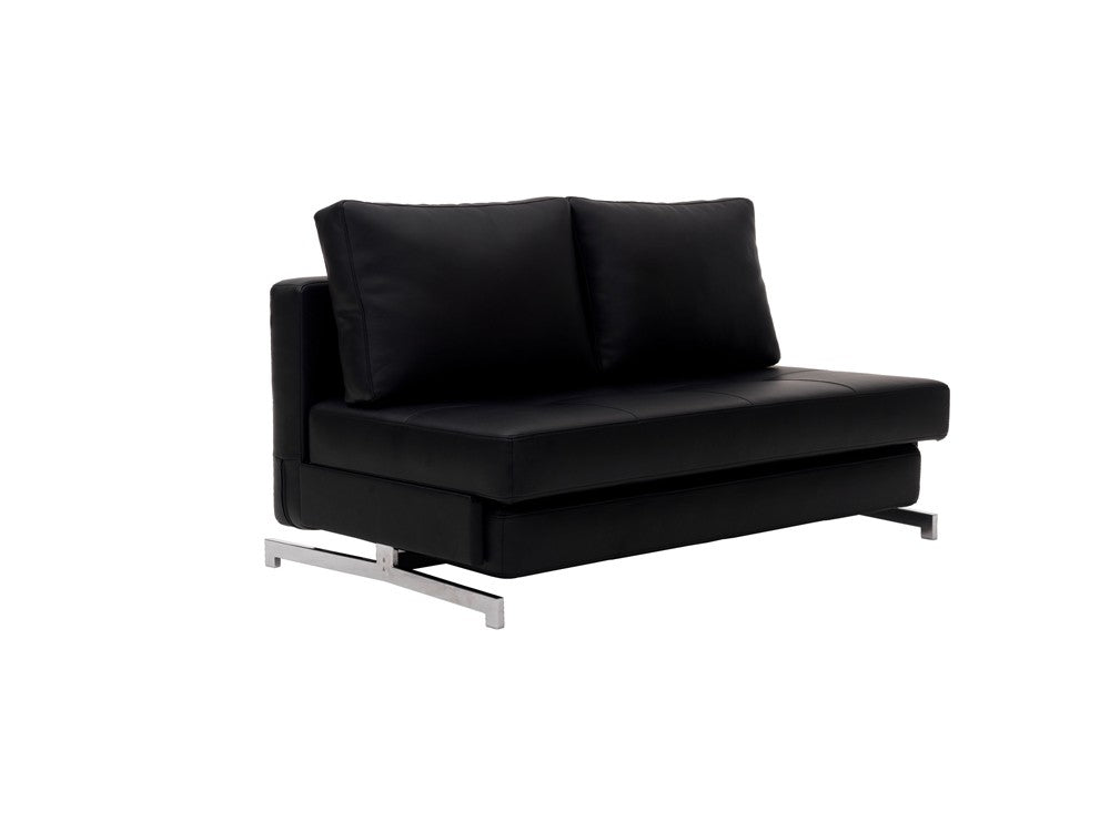 Premium Sofa Bed K43-2 in Black Leatherette