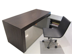 S005 Modern Office Desk Dark Oak