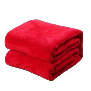 Gorgeous Flannel Fleece Blanket Cozy Couch Solid Color Bed Blanket