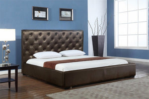 Zoe Storage Bed Queen Size in Chocolate