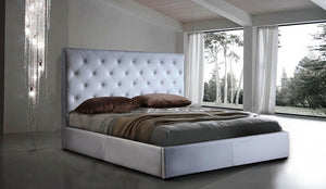 Zoe Storage Bed Queen Size in White
