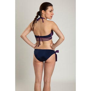 BIKINI TOP RANIA (Shiny Purple & Navy)