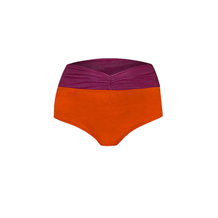 BIKINI BOTTOM CALLIE<br> (Shiny Copper Orange & Pink)