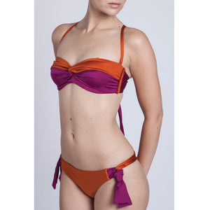 BIKINI TOP JULIA (Shiny Copper Orange & Pink)