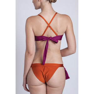 BIKINI TOP JULIA<br>(Shiny Copper Orange & Pink)