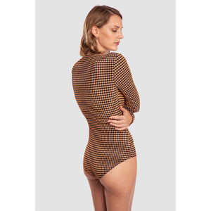 BODYSUIT GOA (Seersucker Vichy Copper Orange)