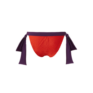 BIKINI BOTTOM IRA <br>(Smock Red & Purple)
