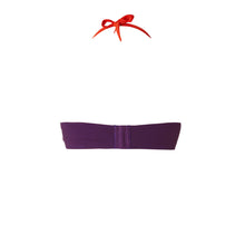 BIKINI TOP LOU (Shiny Purple & Red)