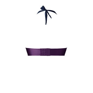 BIKINI TOP LOU (Shiny Navy & Purple)
