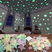 Glowing Sticker Luminous Stars Fluorescent Wall Stickers For Home Or Kids Room Decoration