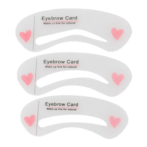 3 pcs Grooming Shaping Template Eyebrow Stencils Drawing Card DIY Drawing Guide Styling Makeup Beauty Kit #MK03
