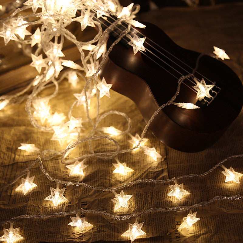 6m 40 led star flower xmas tree garland new year string light christmas decorations for home