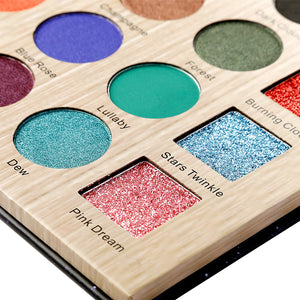 DE'LANCI Nocturne Eyeshadow Pallete Professional 25 Colors Make up Palette Matte Shimmer Glitter Pigmented Eye Shadow Powder