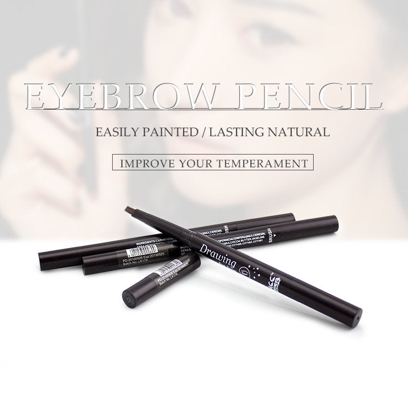 Eyebrow Pencil With Brush Double Head Automatic Makeup Durable