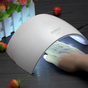 24W Lamp Nail Dryer Machine Curing Hard Gel Polish Best for Personal & Home Manicure