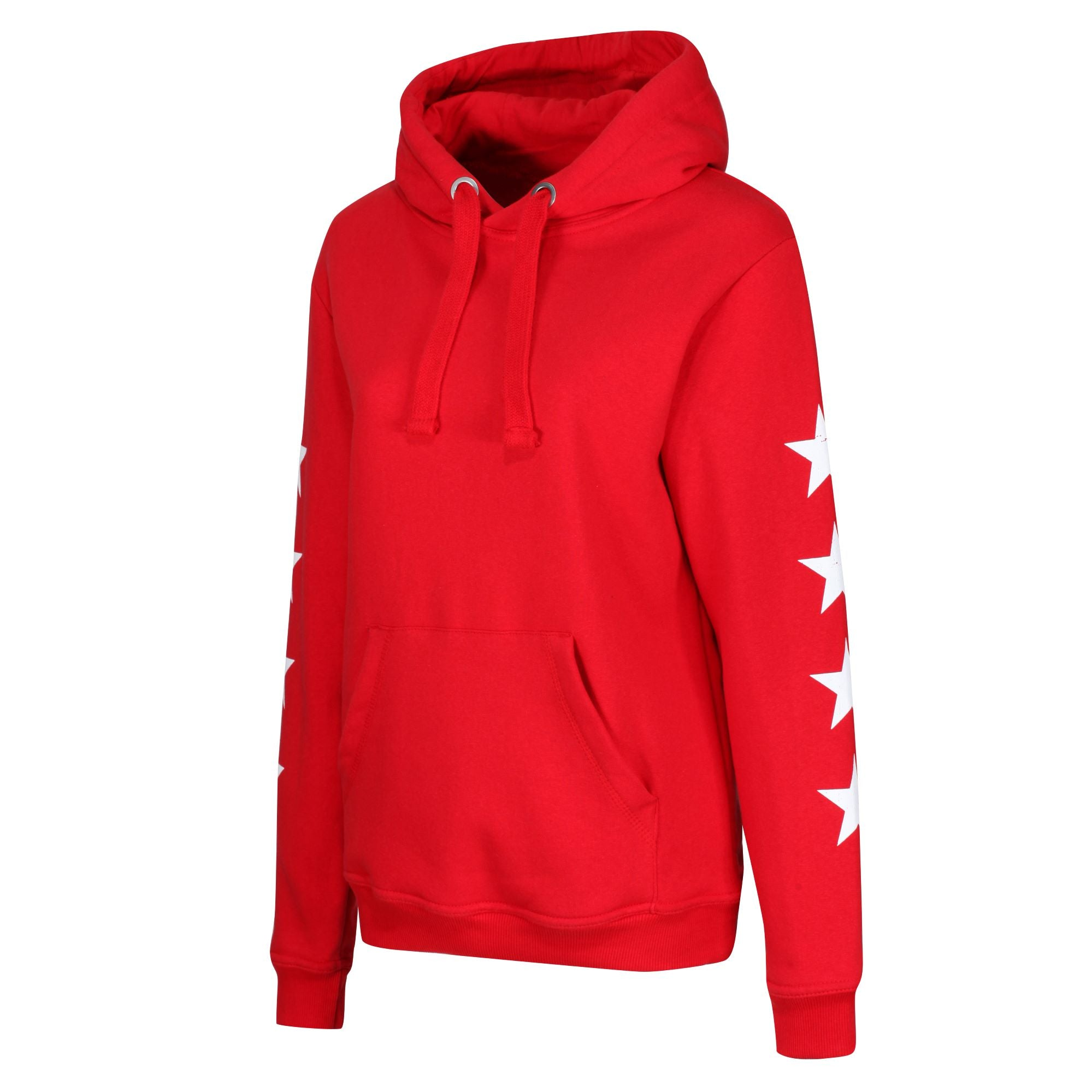 The STARS Heavyweight Hoodie- Red