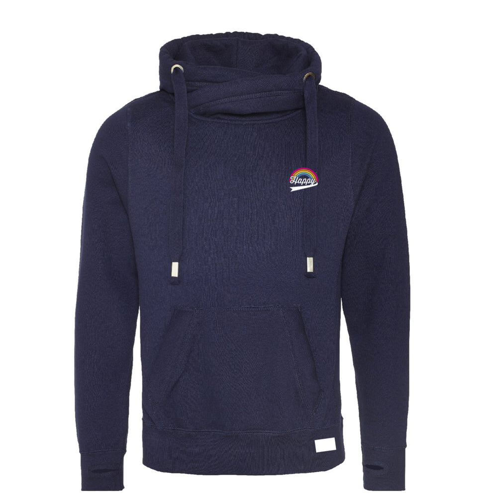 HAPPY HOODIE - Rainbow Pocket - Navy