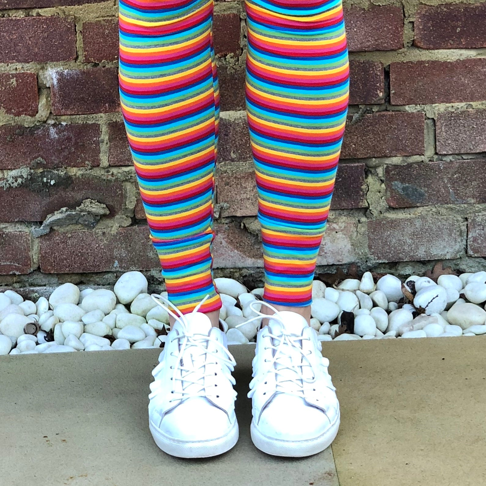 LEGGINGS - Rainbow Stripes