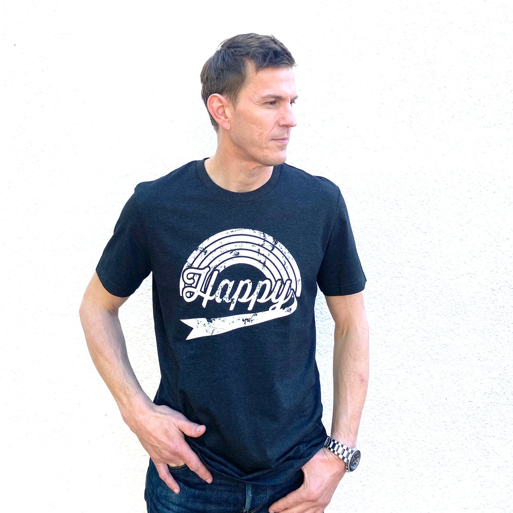 HAPPY TEE – Men's/Unisex Charcoal