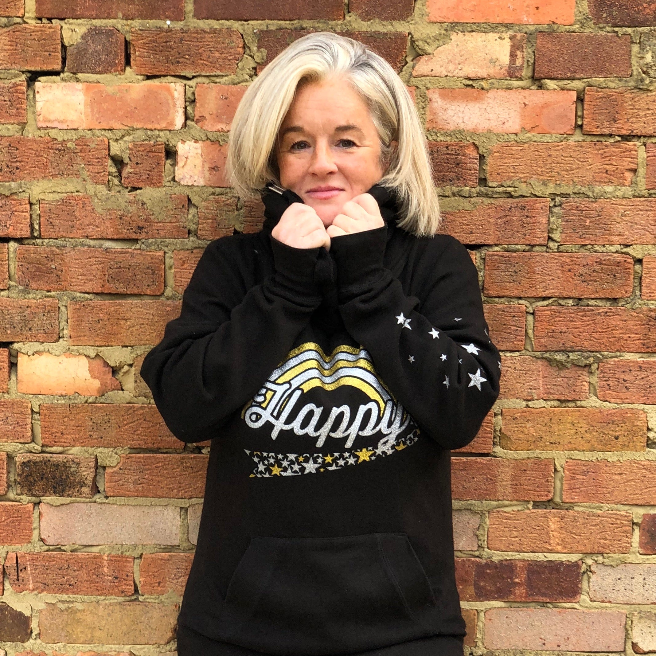 Limited Edition - HAPPY HOODIE - Gold / Silver Glitter