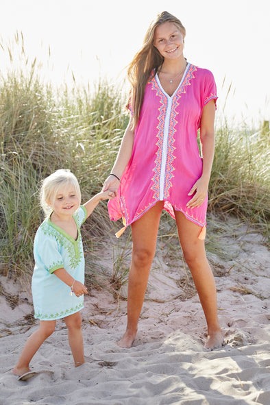 Tunic Beach Dress Saskia in Fuchsia