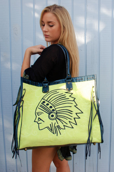 Fluorescent Oversized Beach Bag