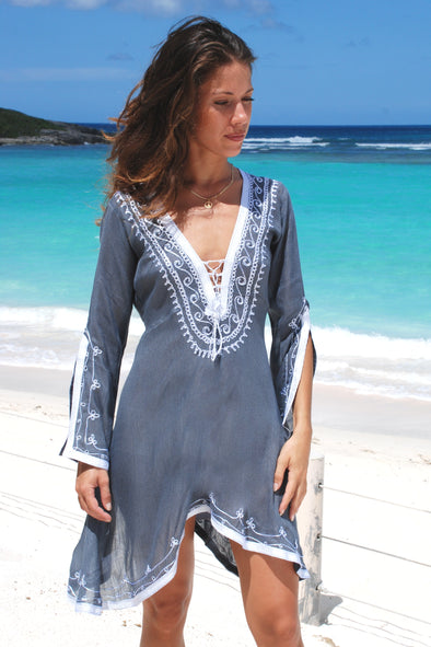 Amber Dress - Iron Grey with Silver