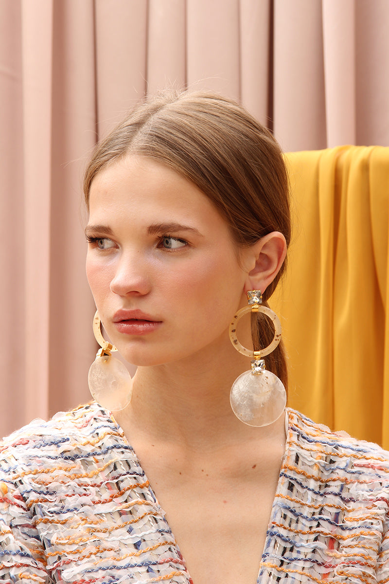 THE CASSE NOISETTE TWIN HOOPS