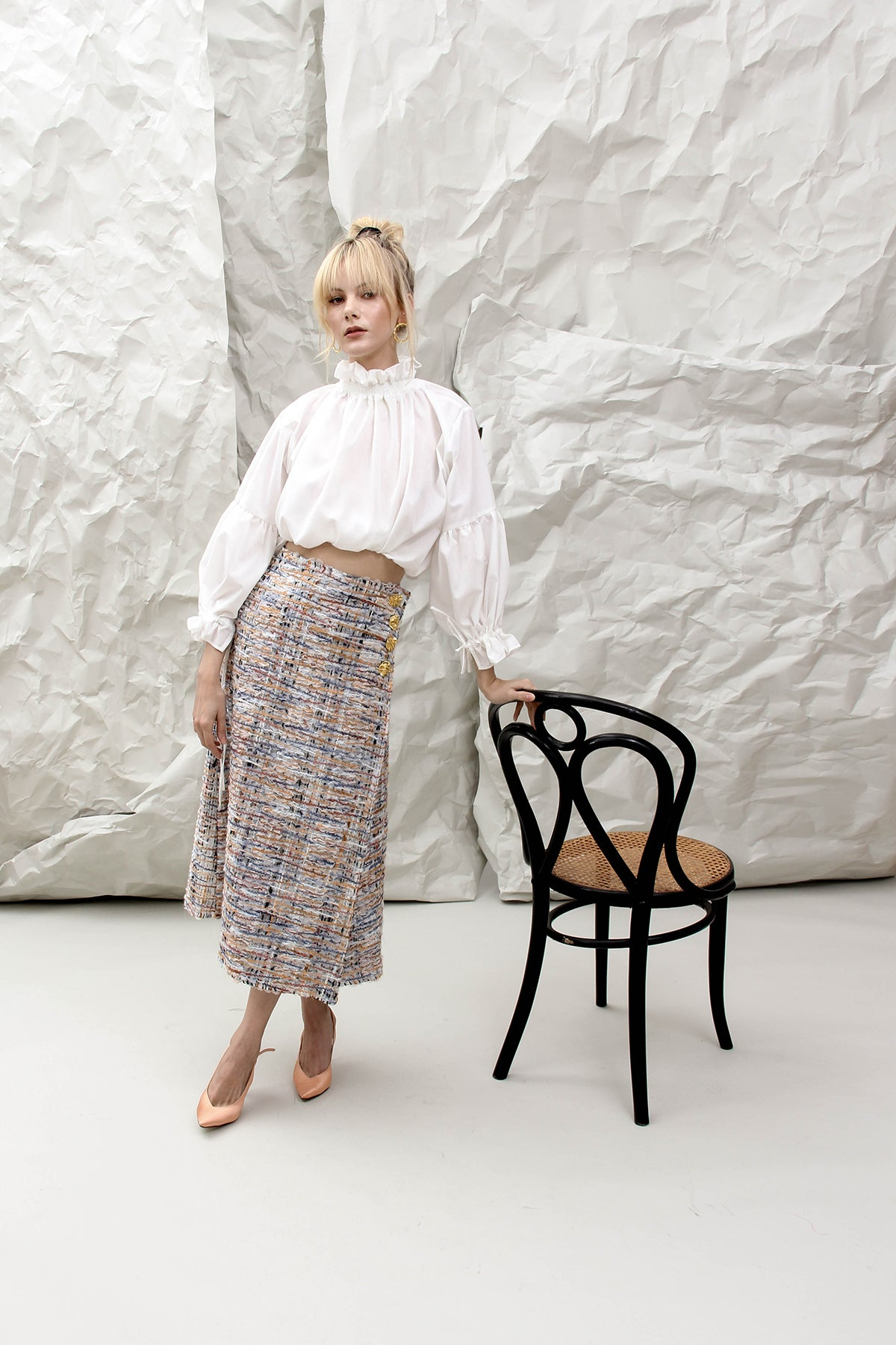 THE ALICE BLUE WOVEN SKIRT