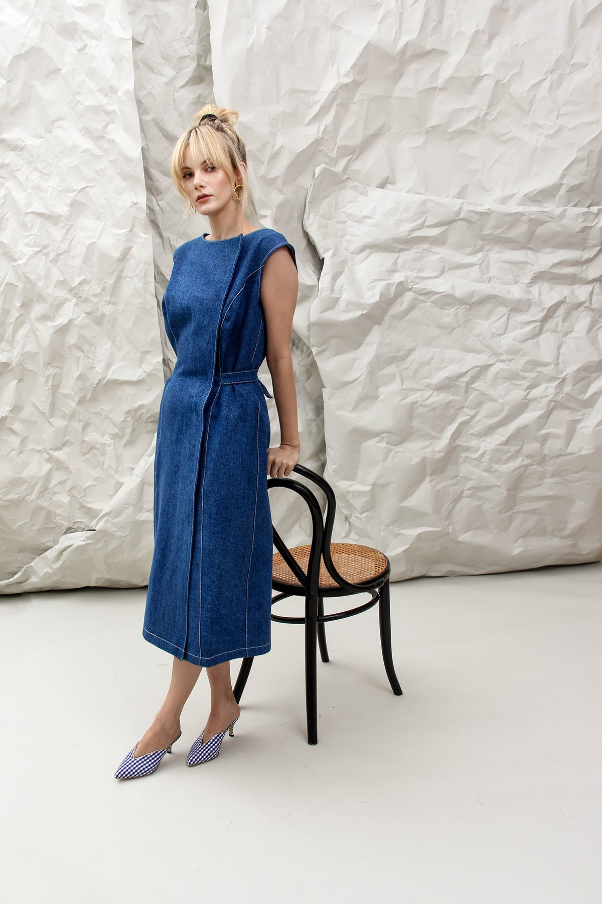 THE AUDREY DENIM DRESS