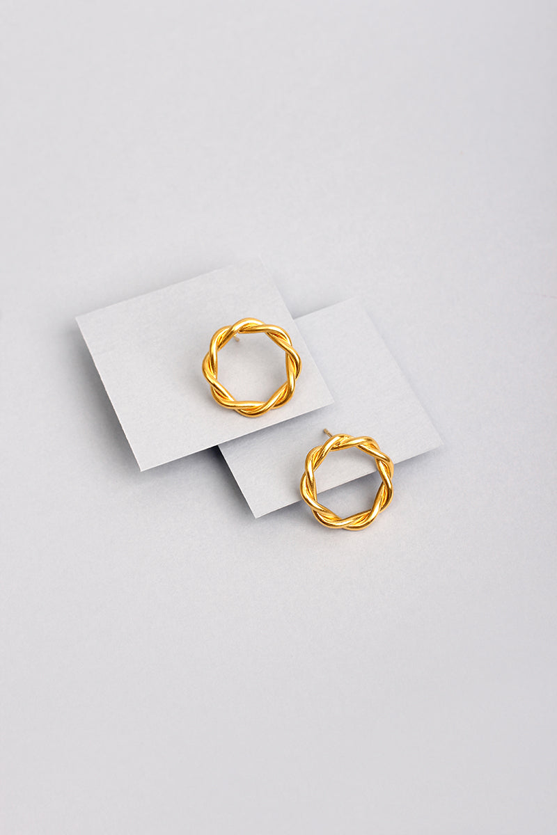 LES MINI CIRCLE EARRINGS