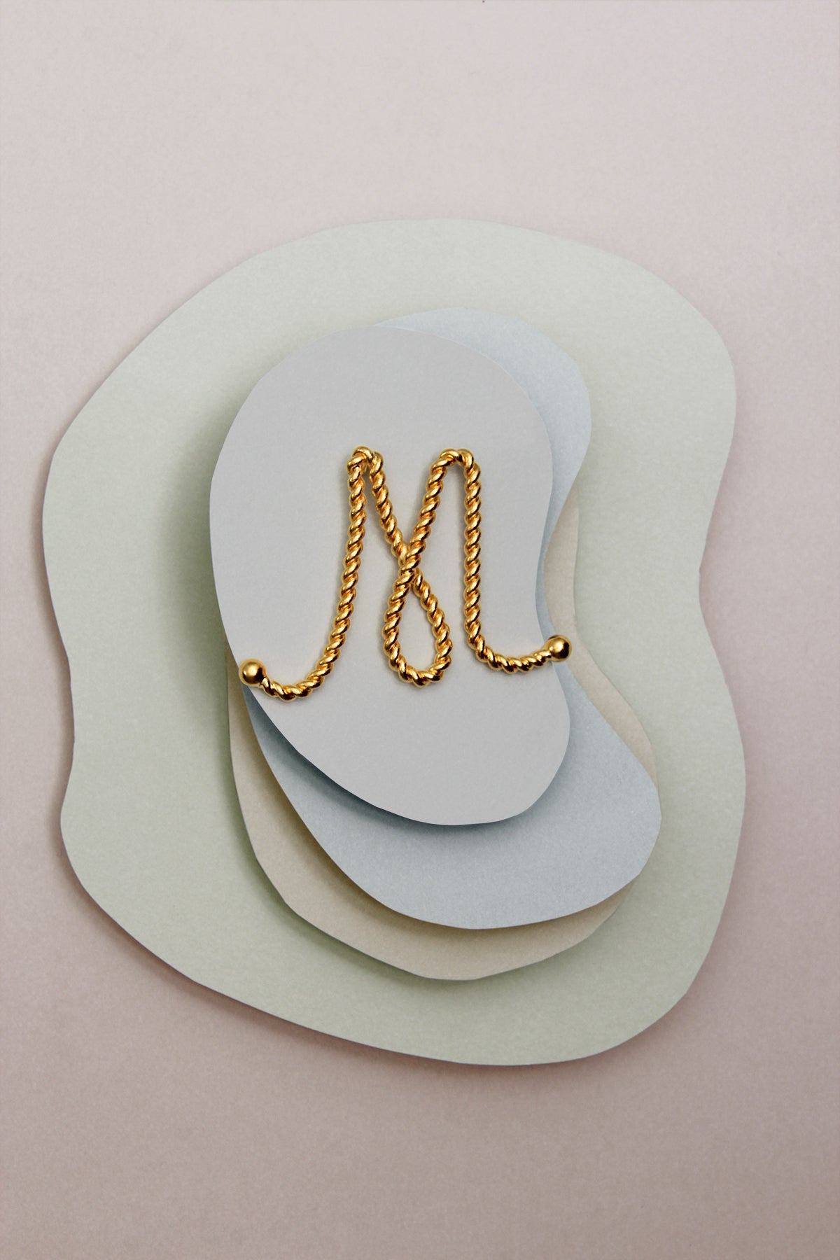 THE INITIAL M NECKLACE