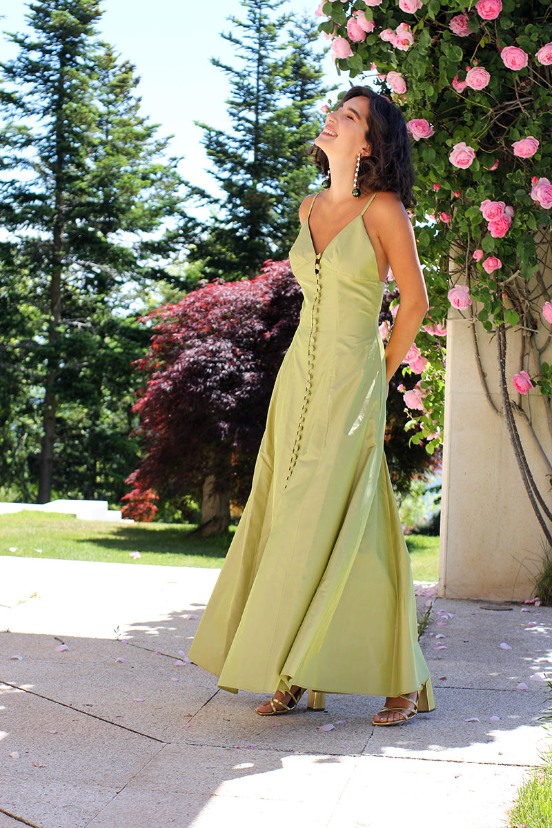 THE BOHEMIENNE LIME DRESS
