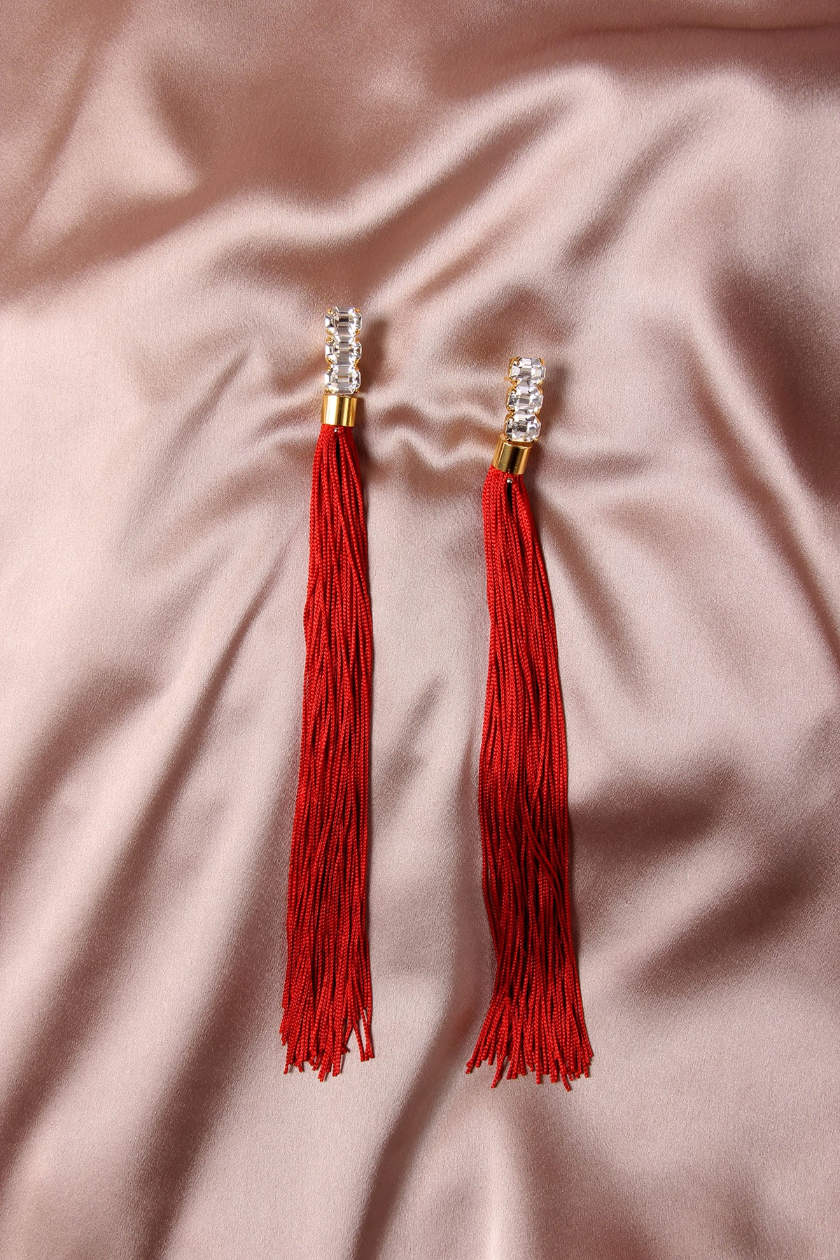 THE WEEPING SOIL RED EARRINGS