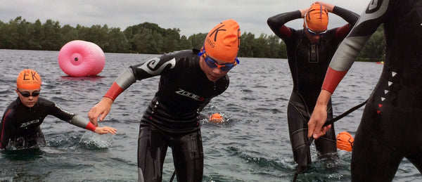 Triathlon wetsuits are designed to be light, flexible and buoyant