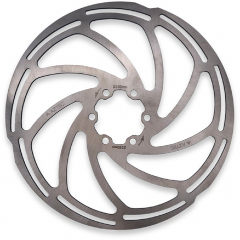 Aztec 6-bolt 180mm Disc Rotor - Stainless Steel