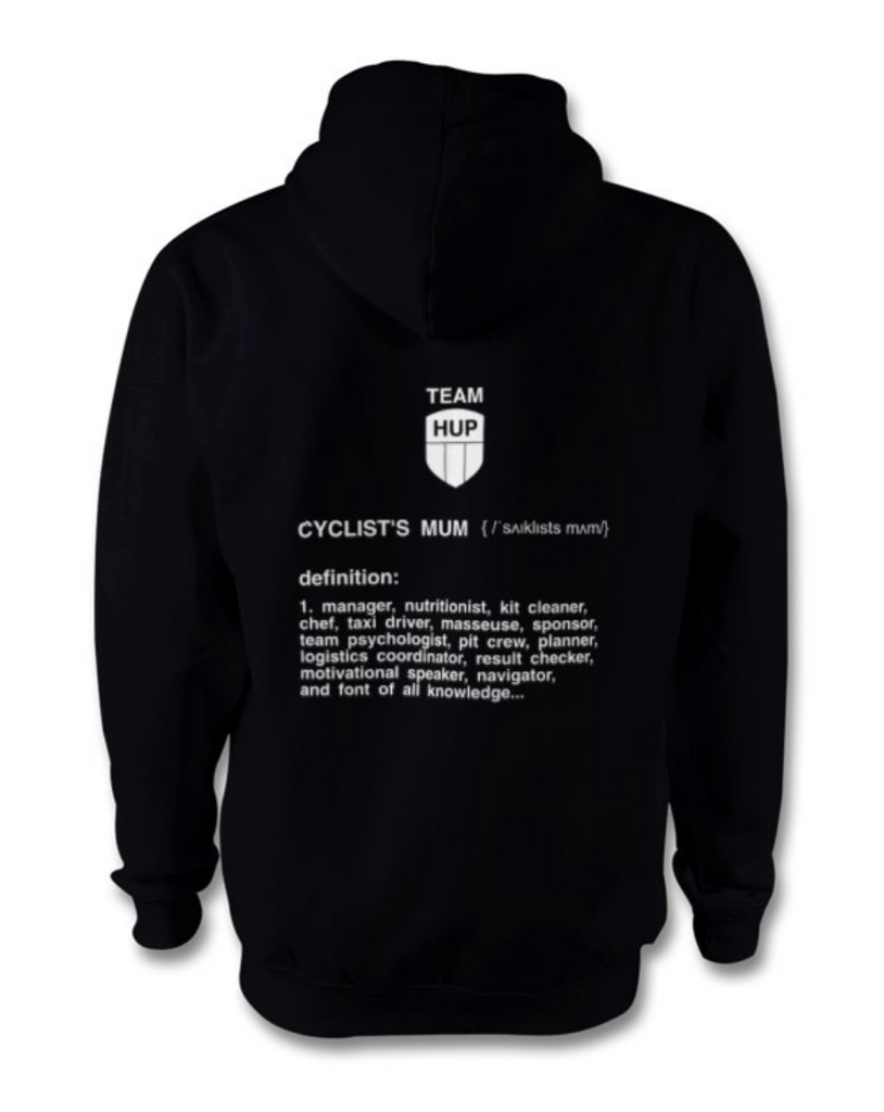 Team HUP Adults Hoodie for Cyclists Mums