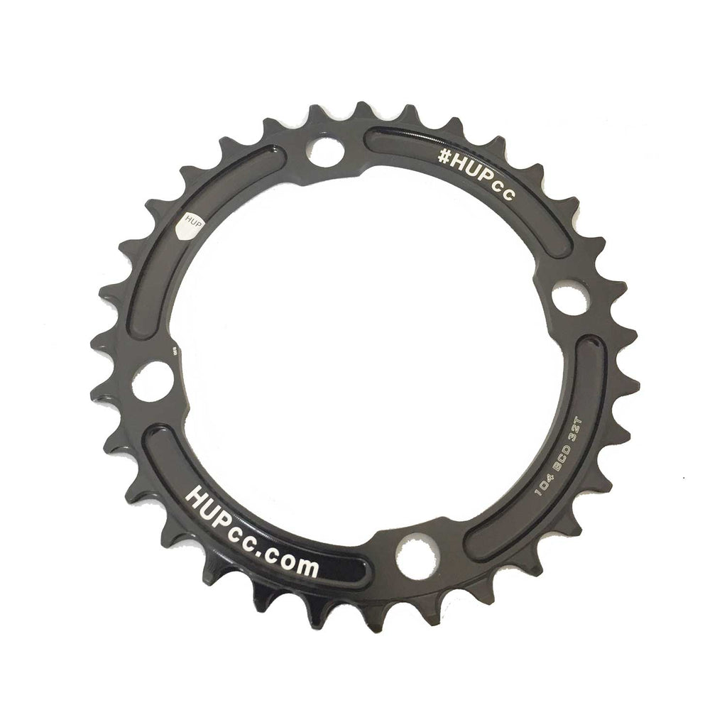 HUP 30T/32T/34T/36T/38T 104bcd Narrow-Wide Chainrings: Kids Road Race/Cyclocross/MTB Race Bikes