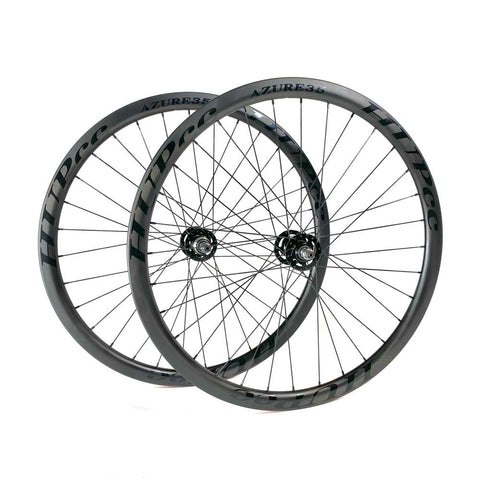 HUP AZURE35 700c Aero Track Wheelset (35mm Deep BC Legal Clinchers)