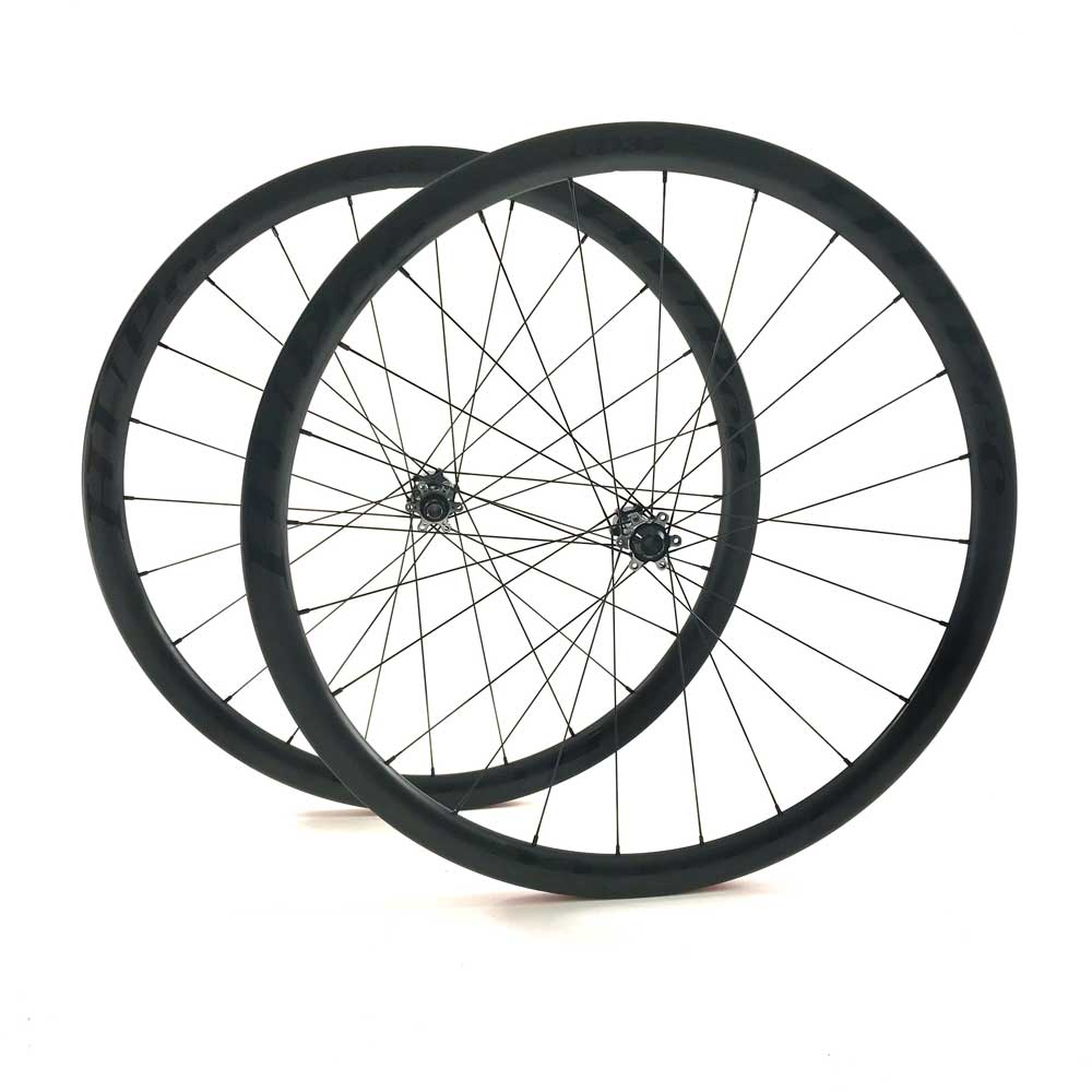 HUP TD35 'Black Label' 700c Disc Aero Wheelset (35mm Deep BC Legal Tubs)