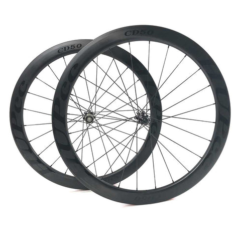HUP TD50 'Black Label' 700c Disc Aero Tubular Wheelset (50mm Deep CX Legal Tubs)
