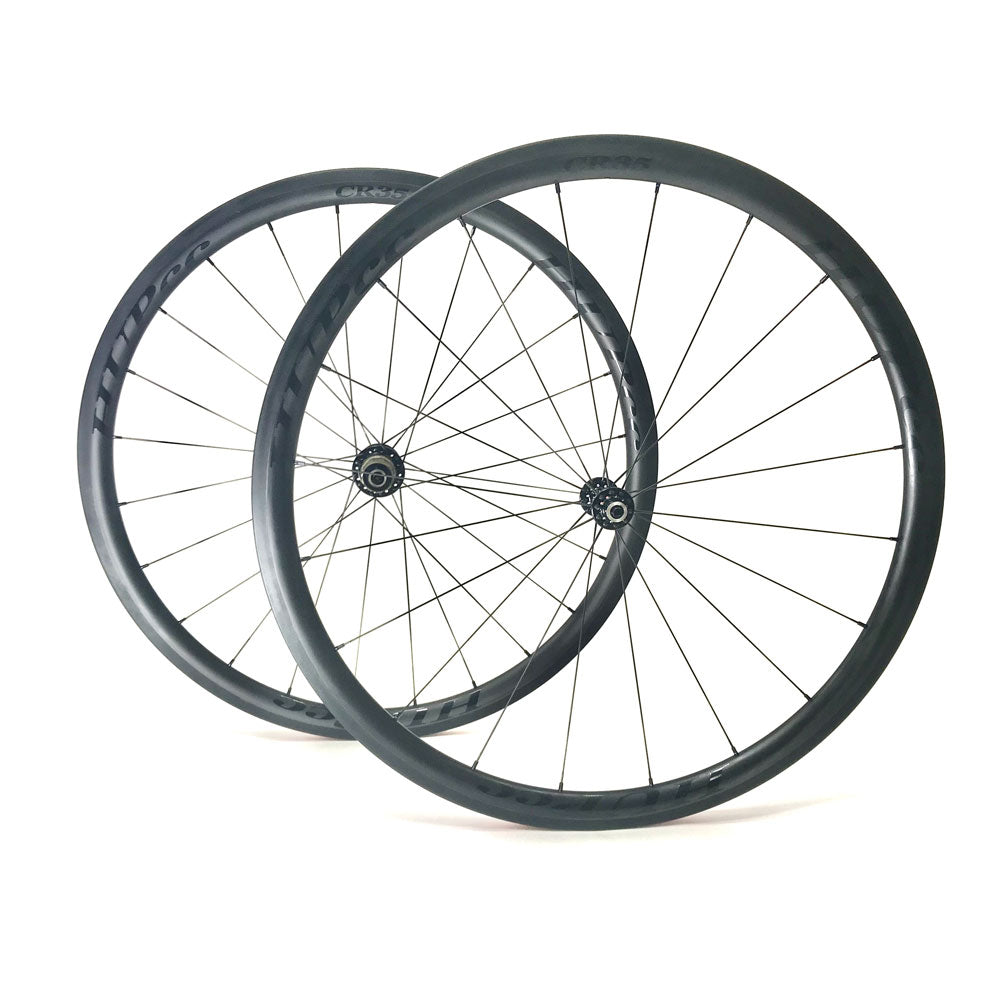 HUP CR35 'Black Label' 700c Aero Wheelset (35mm Deep BC Legal Rim Brake Clinchers)