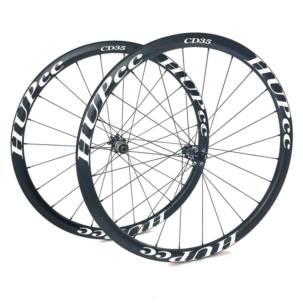HUP CD35 700c Disc Aero Wheelset (35mm Deep BC Legal Tubeless Clinchers)