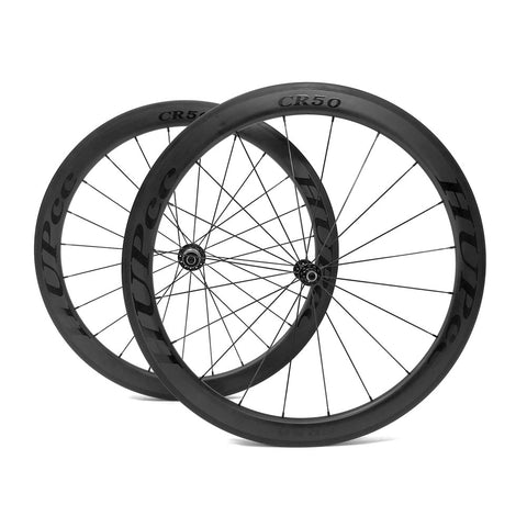 HUP CR50 'Black Label' 700c Aero Wheelset (50mm Deep CX Legal Rim Brake Clinchers)