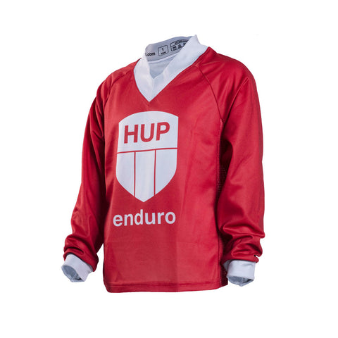 HUP Enduro Children's Long-Sleeve MTB Jersey (Black, Red or Blue)