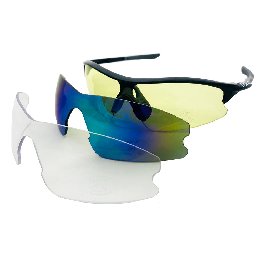 HUP Kids Cycling Sunglasses (3 Lenses)