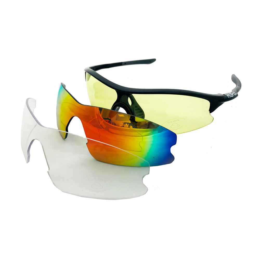 HUP Youth and Small Adult Cycling Sunglasses (3 Lenses)