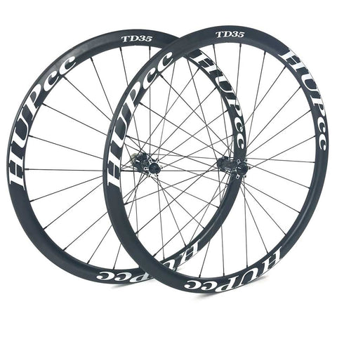 HUP TD35 700c Disc Aero Tubular Wheelset (35mm Deep BC Legal Tubs)