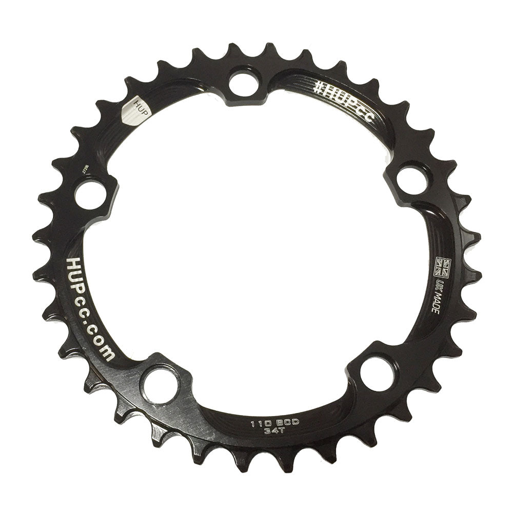 HUP 34T/36T/38T 110bcd Narrow-Wide Chainrings: Kids Road Race/Cyclocross/MTB Race Bikes